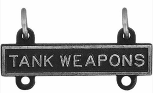Army Qualification Bar Tank Weapons