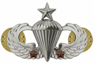 Army Senior Combat Parachute 2nd Award Badge