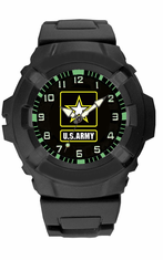 Army Rubber Strap Watch
