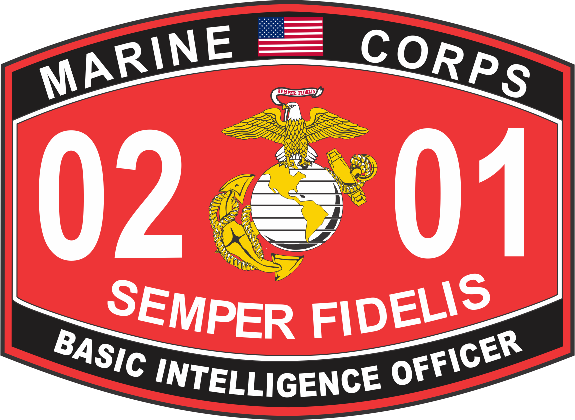 Intelligence Officer Marine Corps MOS 0201 USMC Military Decal