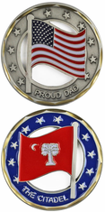 Citadel Proud Dad Flag Cut Out Challenge Coin