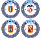 Cold War Veteran US Army Brigade Decals Stickers