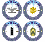Cold War Veteran US Army Rank Decals Stickers
