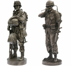 Collectable Bronze Military Statues