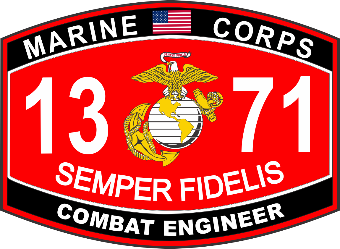 Engineer Marine Corps MOS 1371 USMC Military Decal