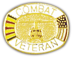 Combat Veteran Lapel Hat Pin