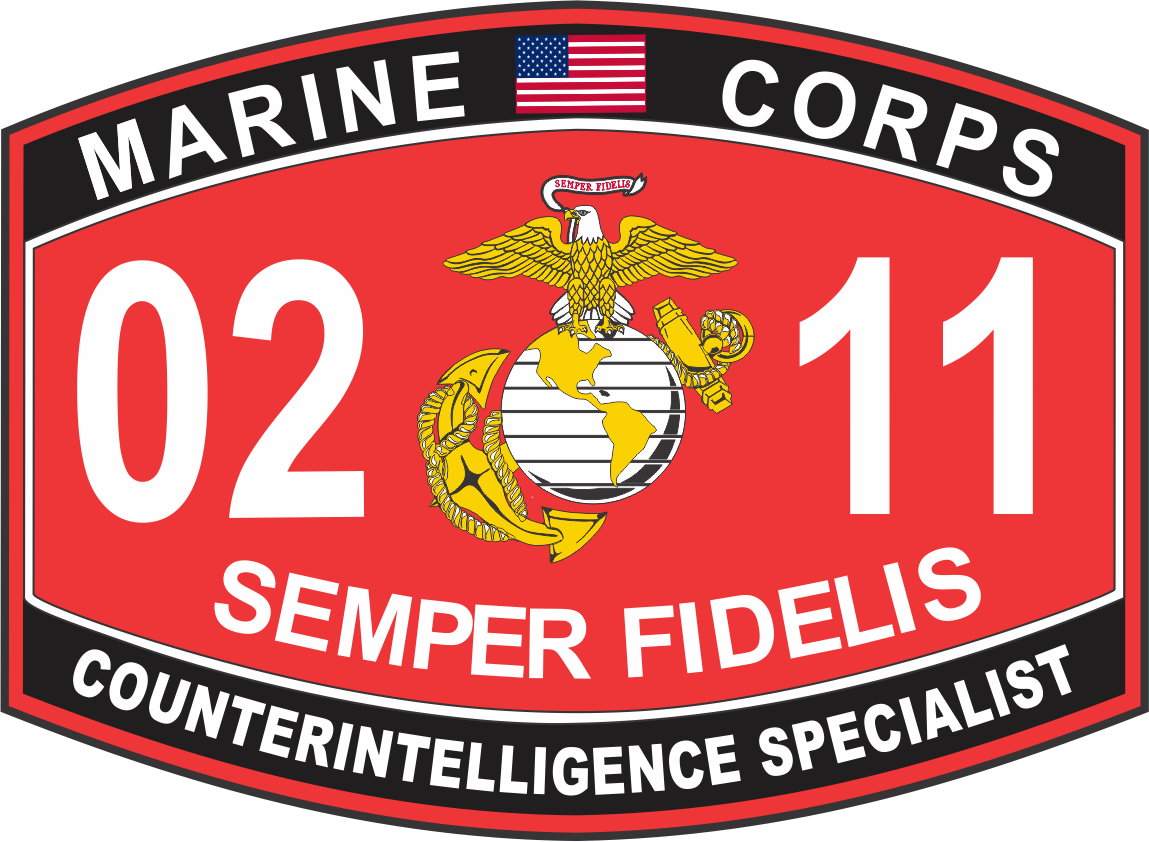 Intelligence Specialist Marine Corps MOS 0211 USMC Military Decal