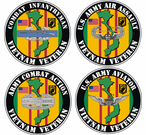 Custom Army Combat Badge Vietnam Veteran Decals Stickers
