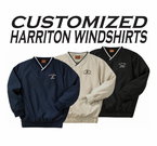Custom Embroidered Military Harriton Windshirt