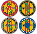 Custom US Army Division Vietnam Decals