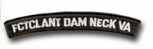 FCTCLANT Dam Neck, Val Rocker Bar Military Patch