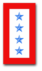 'FOUR BLUE STAR' SERVICE FLAG  VINYL TRANSFER DECAL