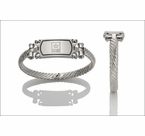 Girl's Embossed Stainless Steel Bracelets