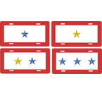 Gold / Blue Star License Plates