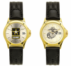 Gold Deluxe Leather Strap Watches