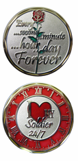 I Love my Soldier 24/7 Challenge Coin