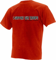I SUPPORT OUR TROOPS RED T-SHIRT FRIDAY
