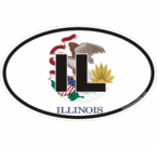 Illinois State Decals Stickers