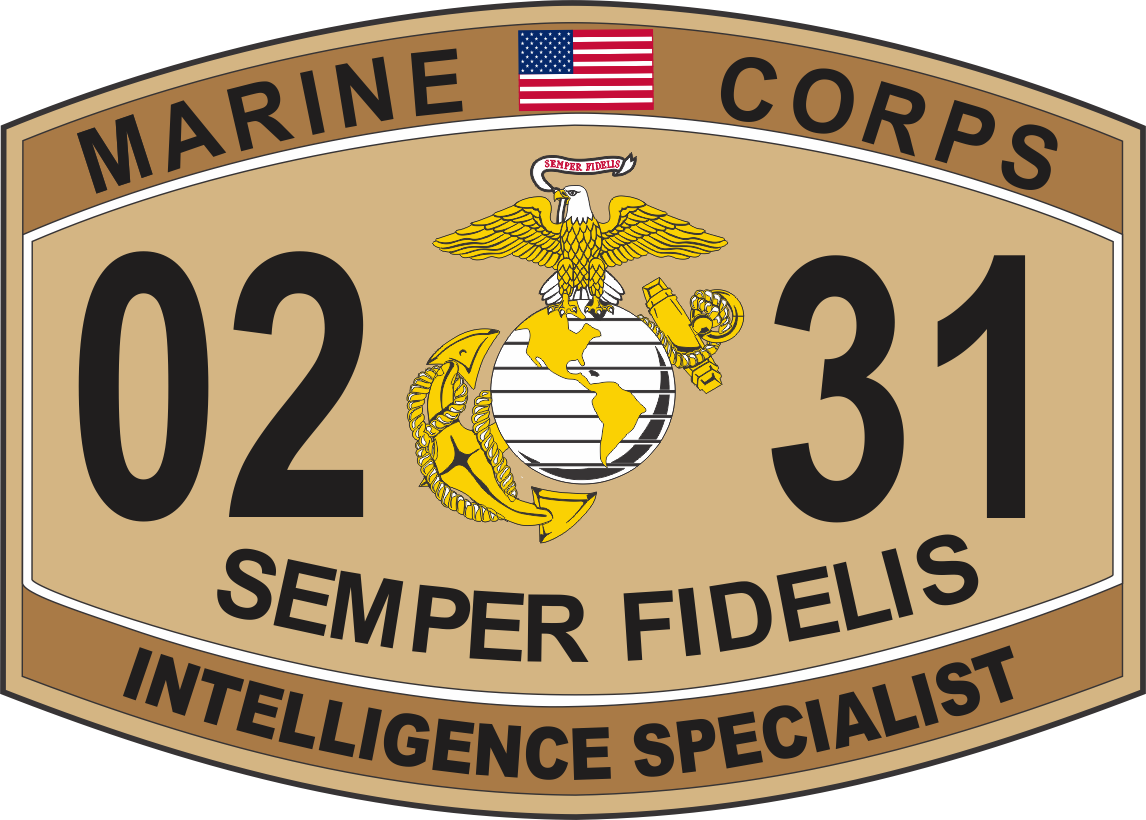 Intelligence Specialist Marine Corps MOS 0231 USMC Military Decal