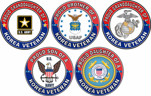 Korea Veteran Proud Family Decal Stickers