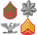 Marine Corps Rank Insigna Decals