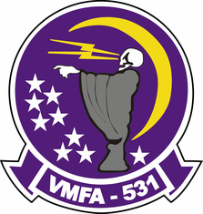 Marine Corps VMFA 531 Grey Ghosts Decal