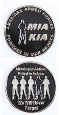 MIA KIA We Will Never Forget Challenge Coin