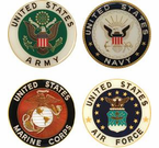 Military Car Grill Badges