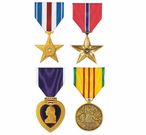 Military Medals, Ribbons, Hat Pins
