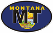 Montana State Decals Stickers
