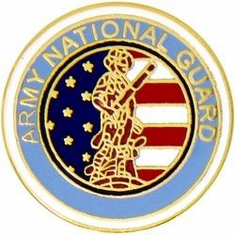 NATIONAL GUARD MILITARY LAPEL PIN