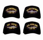 Navy Amphibious Ships Ball Caps