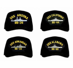 Navy Battleship Caps