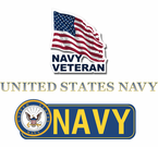 Navy Bumper Stickers and Window Strips