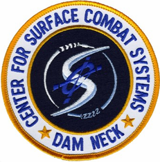 "Navy Center for Surface Combat Systems Dam Neck 4"" Military Patch"
