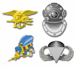 Navy Combat Badge Vinyl Transfer Decals