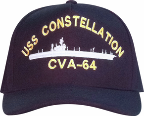 Navy Custom Made Ship Cap