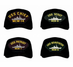 Navy Mine Warfare Ships Caps