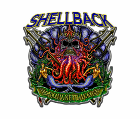 Navy Shellback King Neptune Sticker Decal