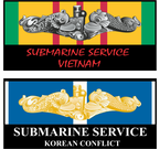 Navy Submariner War Service Decals