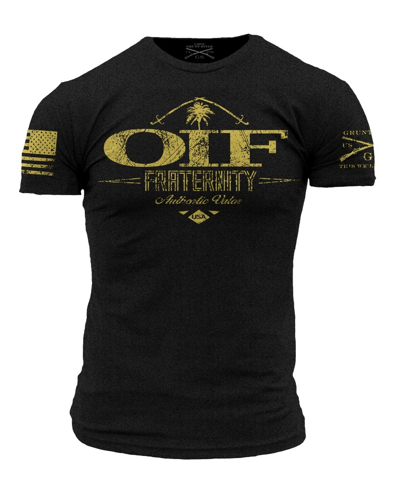... > US Air Force USAF T Shirts > OIF Fraternity Grunt Style T-Shirt