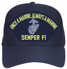 'Once a Marine Always a Marine' Semper Fi with EGA Ball Cap