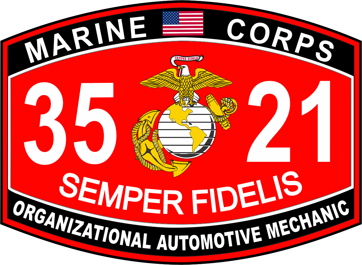 automotive mechanic marine corps mos usmc military decal organizational automotive mechanic marine corps mos 3521 usmc military decal