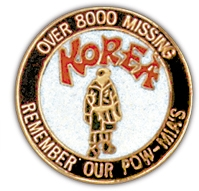 Over 8000 Missing Korea Lapel Pin