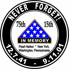Pearl Harbor 9/11 Anniversary Never Forget Decal