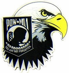 POW MIA Eagle Lapel Pin