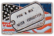 POW Never Forgotten Lapel Hat Pin