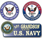 Proud Navy Family Decals