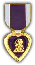 "Purple Heart 1"" Lapel Hat Pin"
