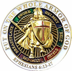 "Put on the Whole Armor of God 1"" Lapel Pin"